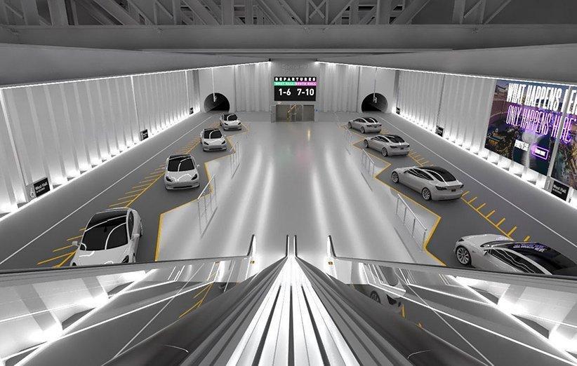 ایلان ماسک تصویری از ایستگاه زیرزمینی پروژه لوپ منتشر کرد